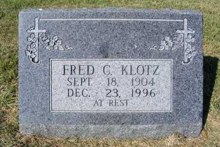 KLOTZ, FRED C. - Frontier County, Nebraska | FRED C. KLOTZ - Nebraska Gravestone Photos