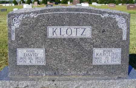 KLOTZ, KAROLINE - Frontier County, Nebraska | KAROLINE KLOTZ - Nebraska Gravestone Photos