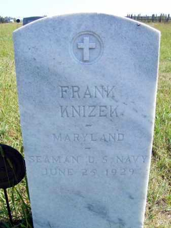 KNIZEK, FRANK - Frontier County, Nebraska | FRANK KNIZEK - Nebraska Gravestone Photos