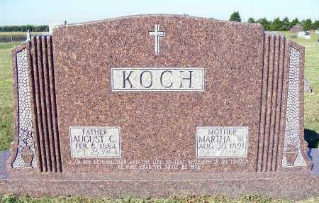 KOCH, AUGUST C. - Frontier County, Nebraska   AUGUST C. KOCH - Nebraska Gravestone Photos