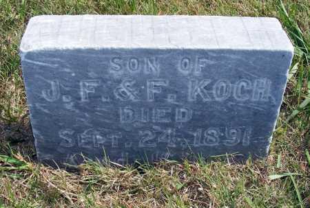 KOCH, AUGUST H. - Frontier County, Nebraska | AUGUST H. KOCH - Nebraska Gravestone Photos