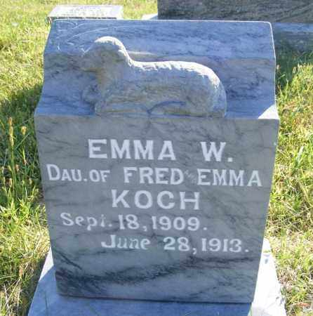 KOCH, EMMA W. - Frontier County, Nebraska | EMMA W. KOCH - Nebraska Gravestone Photos