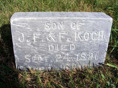 KOCH, INFANT SON - Frontier County, Nebraska   INFANT SON KOCH - Nebraska Gravestone Photos