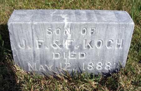 KOCH, INFANT SON - Frontier County, Nebraska | INFANT SON KOCH - Nebraska Gravestone Photos
