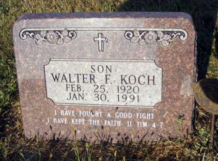 KOCH, WALTER F. - Frontier County, Nebraska | WALTER F. KOCH - Nebraska Gravestone Photos