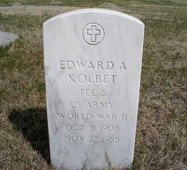 KOLBET, EDWARD A. - Frontier County, Nebraska   EDWARD A. KOLBET - Nebraska Gravestone Photos