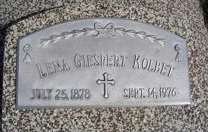 GIESPERT KOLBET, LENA - Frontier County, Nebraska   LENA GIESPERT KOLBET - Nebraska Gravestone Photos