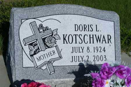 KOTSCHWAR, DORIS L. - Frontier County, Nebraska | DORIS L. KOTSCHWAR - Nebraska Gravestone Photos