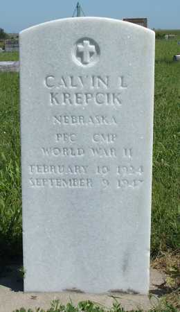 KREPCIK, CALVIN L. - Frontier County, Nebraska   CALVIN L. KREPCIK - Nebraska Gravestone Photos
