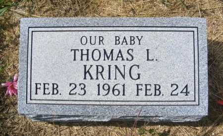 KRING, THOMAS L. - Frontier County, Nebraska | THOMAS L. KRING - Nebraska Gravestone Photos
