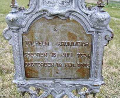 KRUMMEICH, WILHELM - Frontier County, Nebraska | WILHELM KRUMMEICH - Nebraska Gravestone Photos