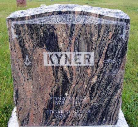 KYNER, EDGAR O. - Frontier County, Nebraska | EDGAR O. KYNER - Nebraska Gravestone Photos
