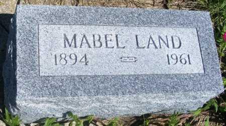 LAND, MABEL - Frontier County, Nebraska | MABEL LAND - Nebraska Gravestone Photos