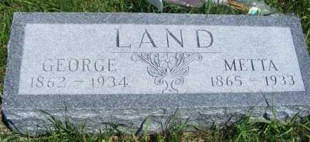 LAND, GEORGE - Frontier County, Nebraska | GEORGE LAND - Nebraska Gravestone Photos