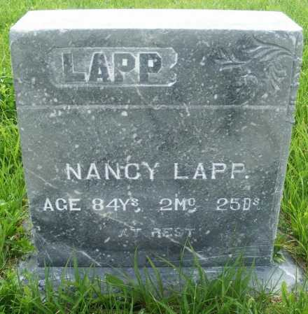 LAPP, NANCY - Frontier County, Nebraska | NANCY LAPP - Nebraska Gravestone Photos