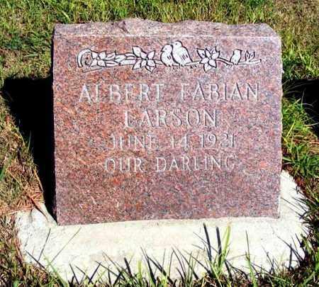 LARSON, ALBERT FABIAN - Frontier County, Nebraska | ALBERT FABIAN LARSON - Nebraska Gravestone Photos