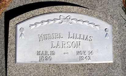 LARSON, MURIEL LILLIAS - Frontier County, Nebraska | MURIEL LILLIAS LARSON - Nebraska Gravestone Photos