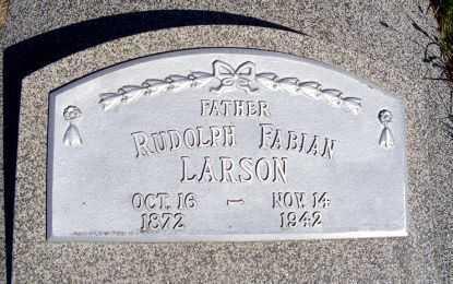 LARSON, RUDOLPH FABIAN - Frontier County, Nebraska   RUDOLPH FABIAN LARSON - Nebraska Gravestone Photos