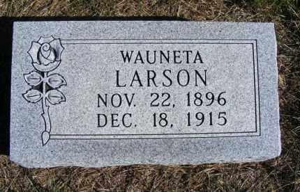 LARSON, WAUNETA - Frontier County, Nebraska | WAUNETA LARSON - Nebraska Gravestone Photos