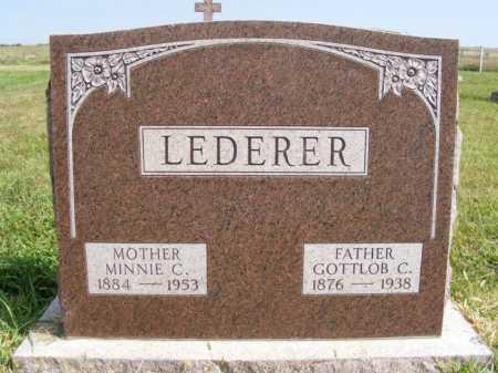 LEDERER, MINNIE C. - Frontier County, Nebraska | MINNIE C. LEDERER - Nebraska Gravestone Photos