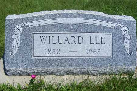 LEE, WILLARD - Frontier County, Nebraska | WILLARD LEE - Nebraska Gravestone Photos