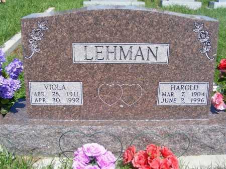 JOHNSON LEHMAN, VIOLA - Frontier County, Nebraska | VIOLA JOHNSON LEHMAN - Nebraska Gravestone Photos