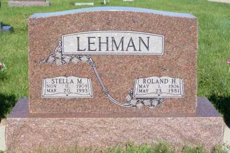 LEHMAN, STELLA M. - Frontier County, Nebraska   STELLA M. LEHMAN - Nebraska Gravestone Photos