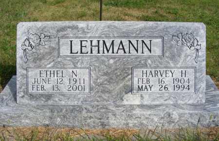 LEHMANN, HARVEY H. - Frontier County, Nebraska | HARVEY H. LEHMANN - Nebraska Gravestone Photos