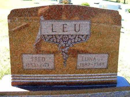 LEU, EDNA T. - Frontier County, Nebraska   EDNA T. LEU - Nebraska Gravestone Photos