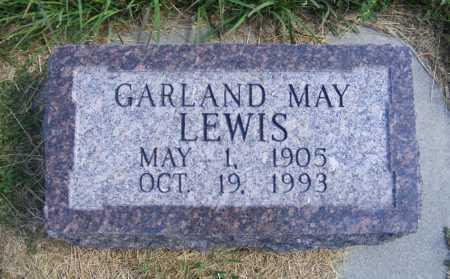 LEWIS, GARLAND MAY - Frontier County, Nebraska | GARLAND MAY LEWIS - Nebraska Gravestone Photos