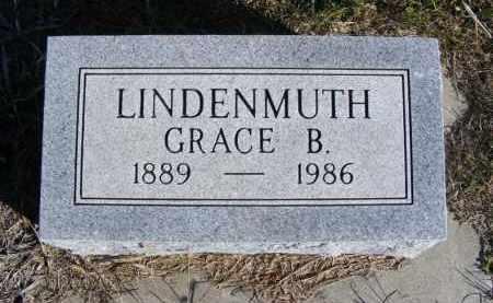 LINDENMUTH, GRACE B. - Frontier County, Nebraska | GRACE B. LINDENMUTH - Nebraska Gravestone Photos