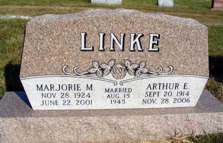 LINKE, ARTHUR E. - Frontier County, Nebraska   ARTHUR E. LINKE - Nebraska Gravestone Photos