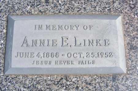 LINKE, ANNIE E. - Frontier County, Nebraska | ANNIE E. LINKE - Nebraska Gravestone Photos