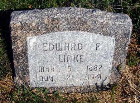 LINKE, EDWARD F. - Frontier County, Nebraska | EDWARD F. LINKE - Nebraska Gravestone Photos