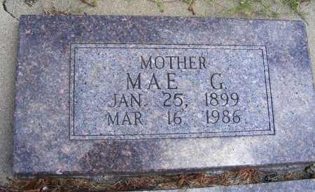 BAKER LITCHENBERG, MAE G. - Frontier County, Nebraska   MAE G. BAKER LITCHENBERG - Nebraska Gravestone Photos