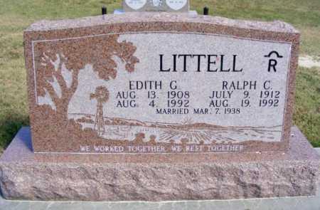 LITTELL, EDITH G. - Frontier County, Nebraska | EDITH G. LITTELL - Nebraska Gravestone Photos
