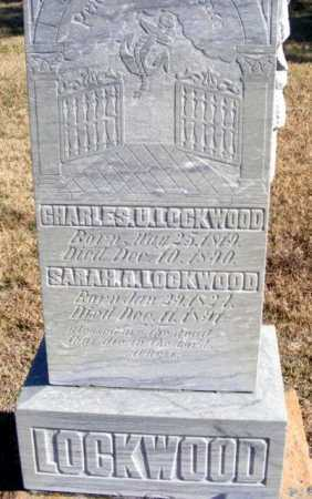 LOCKWOOD, SARAH A. - Frontier County, Nebraska | SARAH A. LOCKWOOD - Nebraska Gravestone Photos