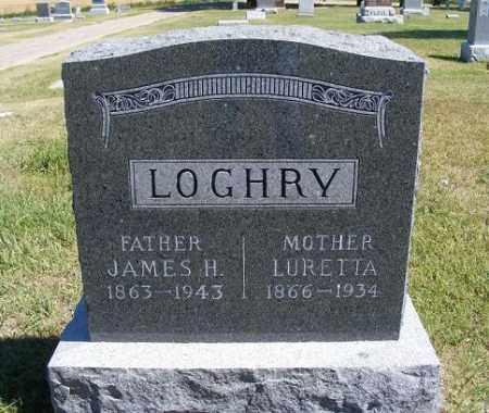 LOGHRY, LURETTA - Frontier County, Nebraska | LURETTA LOGHRY - Nebraska Gravestone Photos