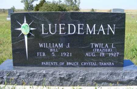 "LUEDEMAN, WILLIAM J. ""BILL"" - Frontier County, Nebraska | WILLIAM J. ""BILL"" LUEDEMAN - Nebraska Gravestone Photos"