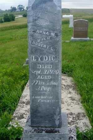 RANK LYDIC, ANNA M. - Frontier County, Nebraska | ANNA M. RANK LYDIC - Nebraska Gravestone Photos