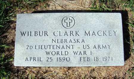 MACKEY, WILBUR CLARK - Frontier County, Nebraska | WILBUR CLARK MACKEY - Nebraska Gravestone Photos
