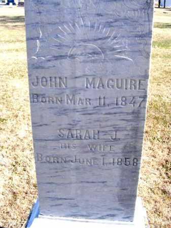 MAGUIRE, JOHN - Frontier County, Nebraska   JOHN MAGUIRE - Nebraska Gravestone Photos