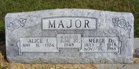 LAIER MAJOR, ALICE I. - Frontier County, Nebraska | ALICE I. LAIER MAJOR - Nebraska Gravestone Photos