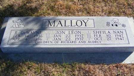 MALLOY, JON LEON - Frontier County, Nebraska | JON LEON MALLOY - Nebraska Gravestone Photos