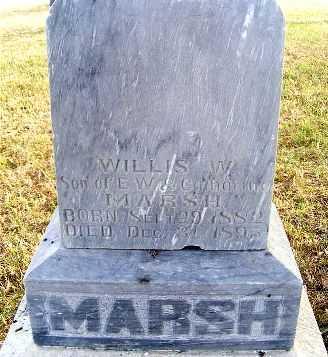 MARSH, WILLIS W. - Frontier County, Nebraska | WILLIS W. MARSH - Nebraska Gravestone Photos