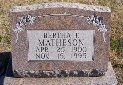 MATHESON, BERTHA F. - Frontier County, Nebraska | BERTHA F. MATHESON - Nebraska Gravestone Photos