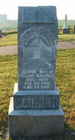 MAURER, JENNIE - Frontier County, Nebraska | JENNIE MAURER - Nebraska Gravestone Photos