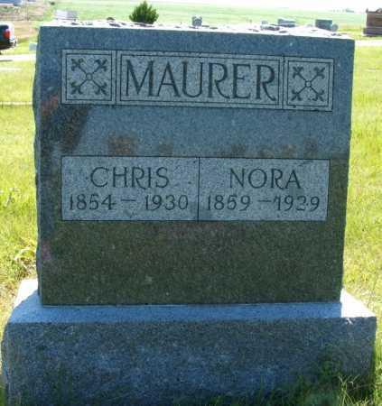 MAURER, NORA - Frontier County, Nebraska | NORA MAURER - Nebraska Gravestone Photos