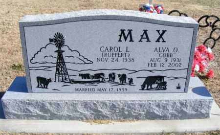 RUPPERT MAX, CAROL L. - Frontier County, Nebraska | CAROL L. RUPPERT MAX - Nebraska Gravestone Photos