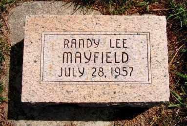 MAYFIELD, RANDY LEE - Frontier County, Nebraska | RANDY LEE MAYFIELD - Nebraska Gravestone Photos